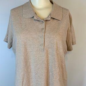 Short Sleeved Polo Shirt by Laura Scott - Beige